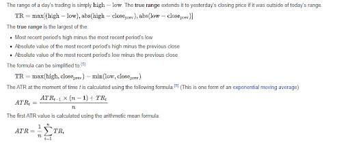 how to calculate ATR