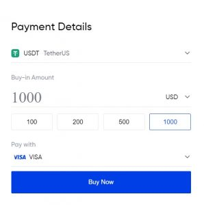 Buy USDT with Credit Card