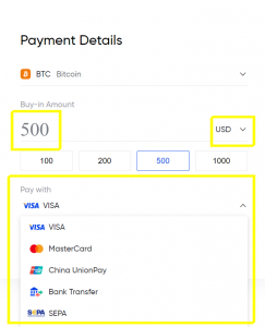buy crypto payment details