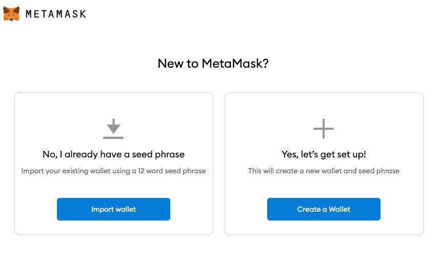 create a matamask wallet