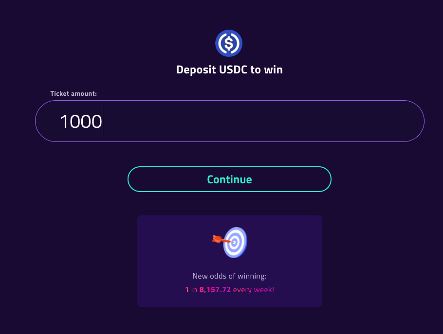 continue deposit on pooltogether