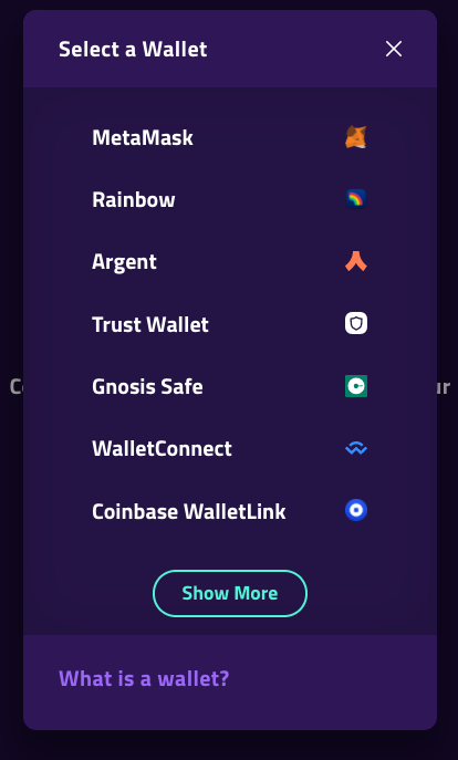 pooltogether wallet selections