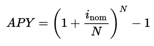 The formula for the calculation of the APY